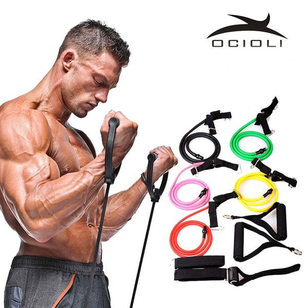 Fitness Elastic Resistance Bands Resistance Pull Rope Exercise Tubes Elastic Workout Bands for Yoga Pilates Expander