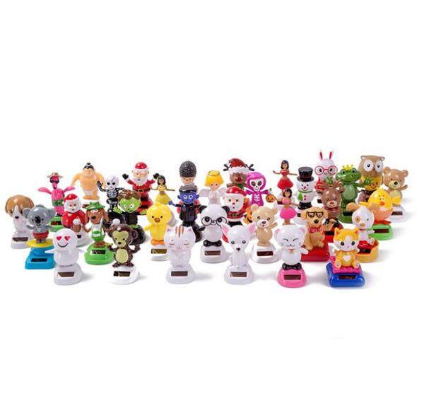 fa0b259355dba Solar Christmas Toys Figurines Dance Tree Christmas and Santa Claus for  Home Car Window Decoration Kids