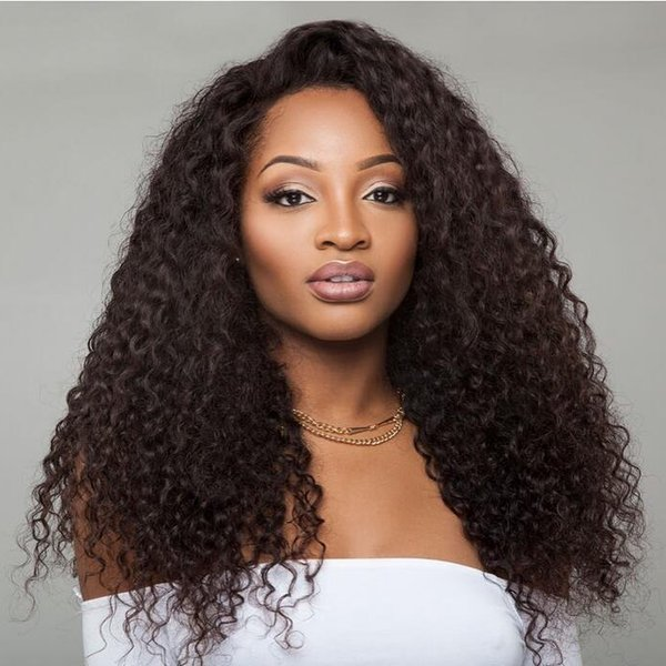 """Hot selling Lace Front Human Hair Wigs Remy Brazilian Jerry Curly Lace Wigs With Baby Hair Bleached Knots Pre Plucked 8""""-26"""""""