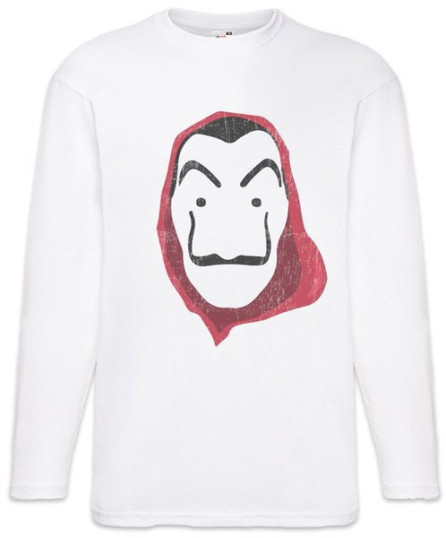 Dali Mask II Men Long Sleeve T-Shirt Money Mask La Casa Heist de Papel Dali