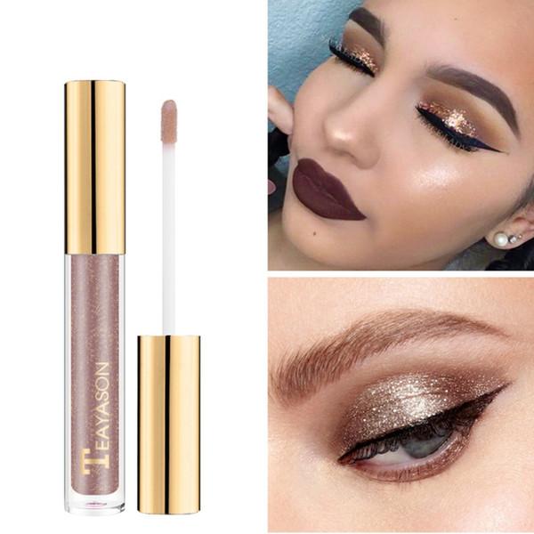 8 Colors Liquid Eye Shadow Eyes Makeup Highlight Lip Gloss Shimmer Glitter Eyeshadow Painted Diamond Loose Powder Pigment2018R7