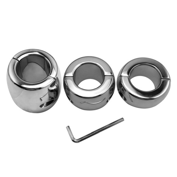 Male Chastity Devices Stainless Steel Penis Cock Ring Delay Ejaculation Scrotum Bound Testis Load Ring Adult Sex Toy SS-003