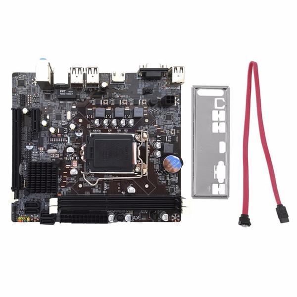 Бесплатная доставка профессиональный настольный компьютер H61 материнская плата 1155 контактный CPU обновить интерфейс с USB2.0 память DDR3 1600/1333