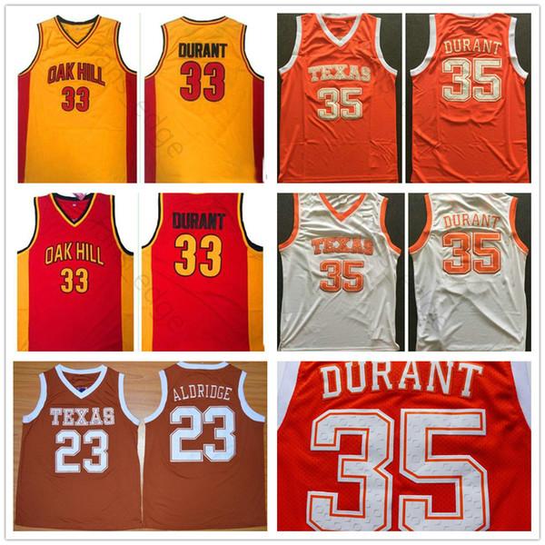 c24138e2 NCAA Texas Longhorns College Basketball Jerseys Shirts #23 Lamarcus Aldridge  35 Kevin Durant Oak Hill