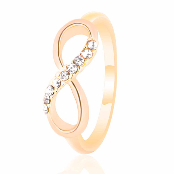 FAMSHIN Fashion pour 8 word alloy with ring all-match simple ring jewelry luxury temperament female