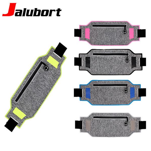 Jalubort Professional Running Waist Packs Mobile Phone Belt Bag With Hidden Pouch Gym Bags Lycra Sport Waist Pack For Men Women