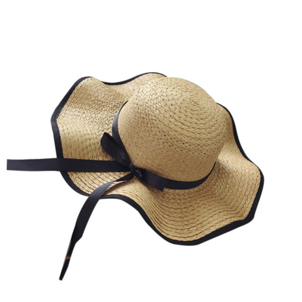 Beach Hat Summer Women Sun Hat Big Wide Brim Straw Caps Foldable Summer Hats UV Protection Panama Bone Chapeu Feminino