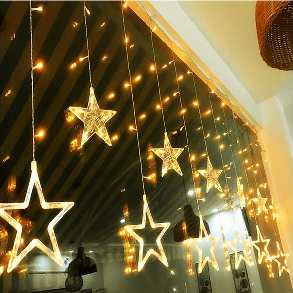 Romantic Star Window shop colorful LED light Christmas decorations for home Star Christmas ornaments Festival LED light