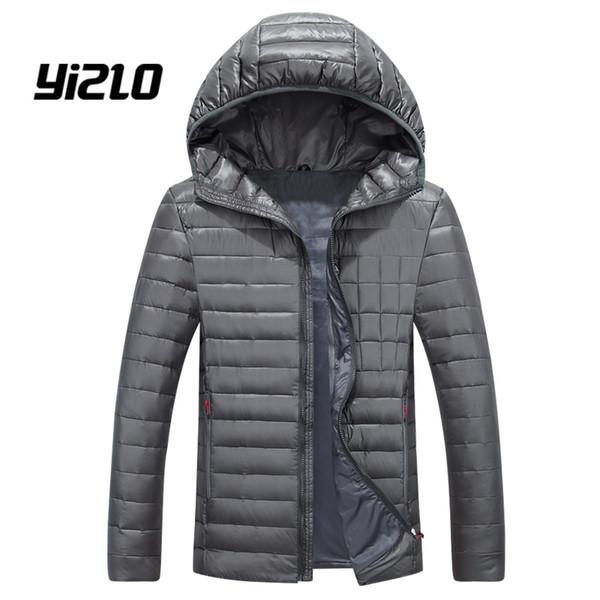 Großhandel YIZLO Neue Mode Licht Dünne Männer Daunenjacke Abnehmbare Weiße Ente Herren Daunenjacke Mit Kapuze Von Felix06, $85.21 Auf De.Dhgate.Com |