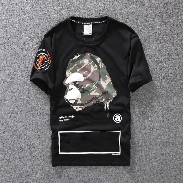 T-shirt casual Abbigliamento da uomo Camicia Designer Black White Orange Taglia S-XXL Cotton Blend girocollo manica corta Cartoon Print