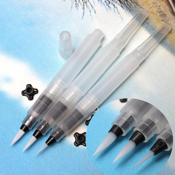 S/M/L Large Capacity Water Brush Soft Watercolor Art Paint Brush Nylon Hair Painting For Calligraphy Pen Paint Beginner