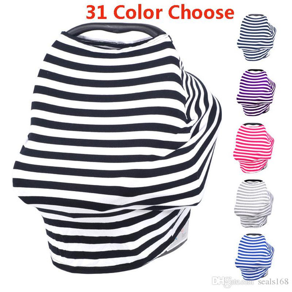 Multi-Use Stretchy Baby Nursing Privacy Wrap Cover Car Seat Shopping Cart Chair Cover For Striple Printed HH7-977
