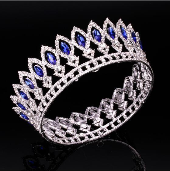 Невеста тиара Корона для женщин Королевская Королева игристые диадемы свадебные украшения для волос выпускного вечера диадемы и короны украшения для волос