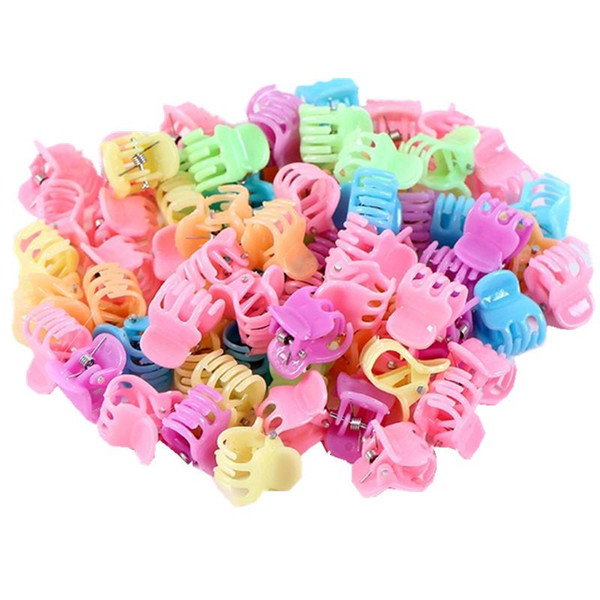 Hot Sale Claws Promotion Fashion 50 Pcs/lot Cute Kids Baby Solid Accessories Princess Children Plastic Girls Clips