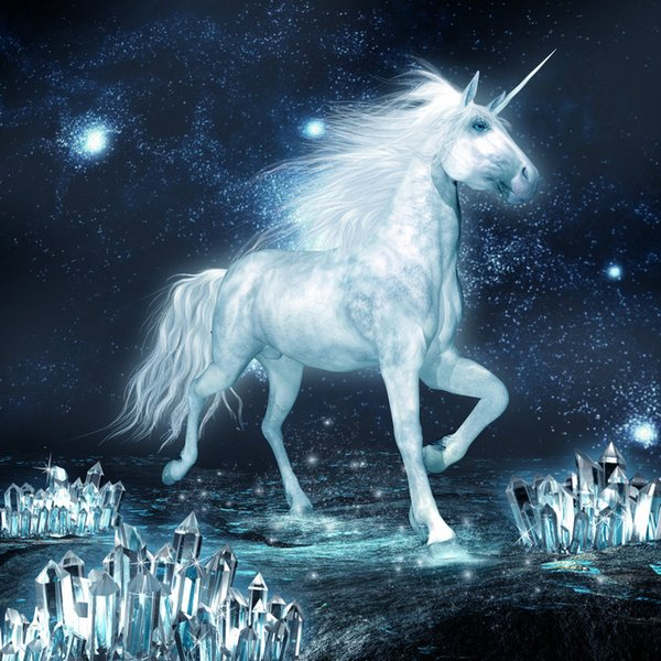 Contemporary Giclee Print art wall Animal Horse unicorn Oil painting Picture Printed on canvas Home Bedroom for Living Room Decor gift DH33