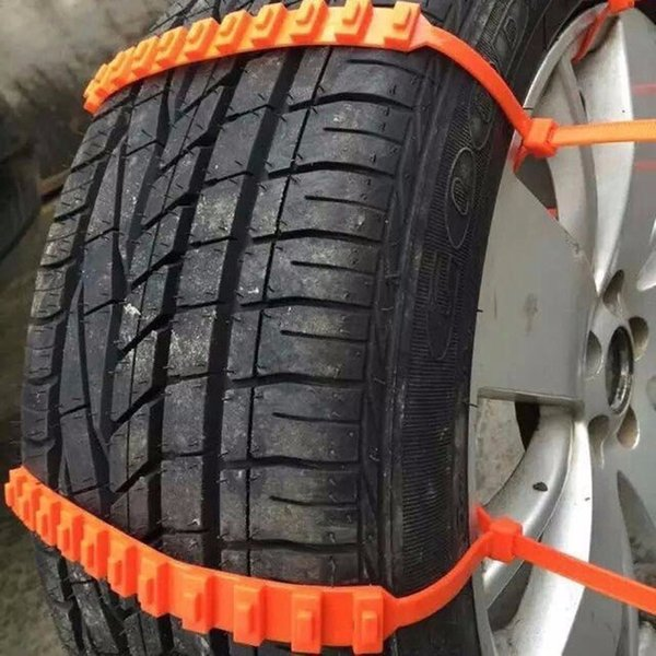 10pcs Lot Car Universal Mini llantas de invierno de plástico ruedas Cadenas de nieve para coches / Suv Car-Styling antideslizante Autocross al aire libre