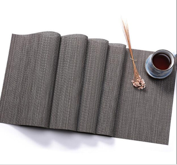 30x225cm Vinyl and Polyester Solid Table Runner PVC Table Cloth Heat Insulation Table Mat Home Textile Collection