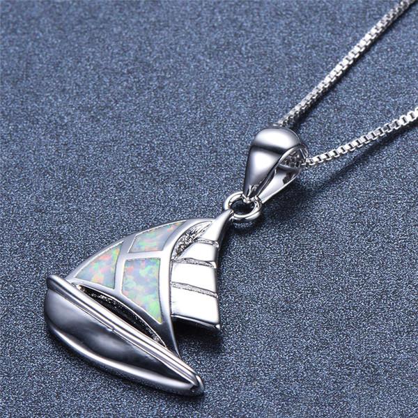 Élégant chat avec nœud bleu opale de feu collier pendentif argent 925 Bijoux Cadeaux