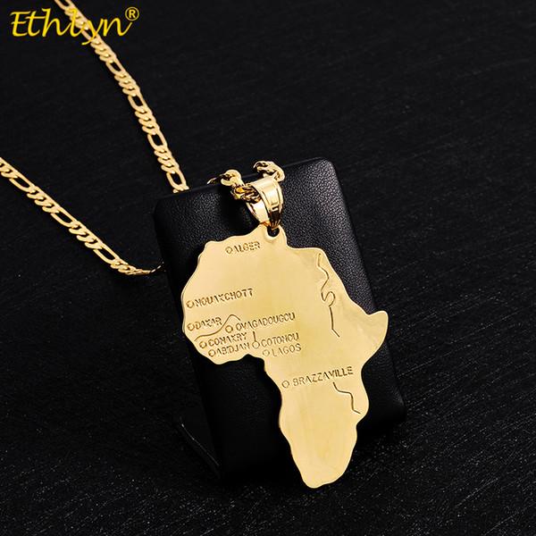 Pendenti della collana dei pendenti della collana del pendente della mappa africana di grandi dimensioni di Ethlyn Big Size Durable dei ragazzi