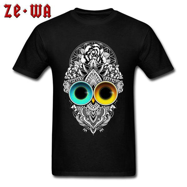 Cheap Classic T Shirt Printing Owl Eclipse Leisure Fashion Plus Size 3xl Male Shirt On Sale Wholesale O - Neck Tee Shirt