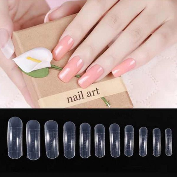 120pcs Dual Forms False Nail Mold Clear French Full Cover Poly gel Nail Tips UV Forms and Acrylic System with Scale