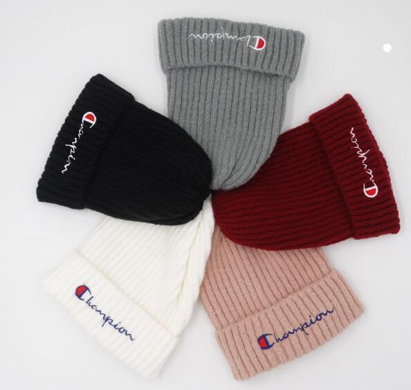 Top Selling beanies Knitted Hat Designer Champion Winter Warm Thick Beanie Fedora gorro Bonnet Skull Hats for Men women Crochet Skiing touca