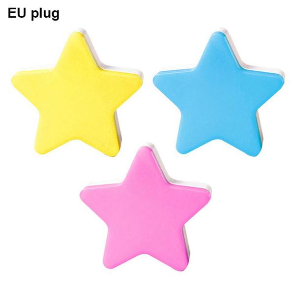 Kids Cartoon Cute LED five-pointed star night light Romantic Bedroom Decor Cute Star Light European regulations