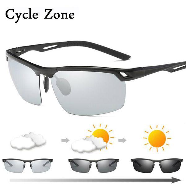 Cycle Zone Polarized Sunglasses Men 2018 Aluminium Magnesium Photochromic Cycling Glasses Women's Bicycle Goggles Bike Gafas MTB
