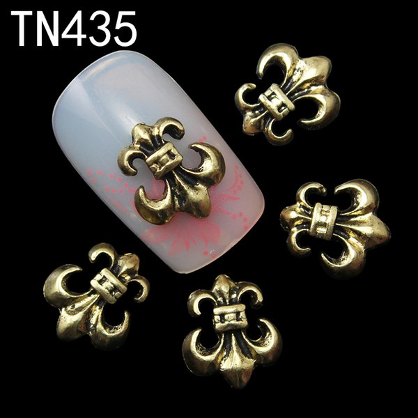 10pc copper alloy glitter 3d nail art anchor decorations with rhinestones,3d nail charms,jewelry on nails salon supplies tn435, Silver;gold