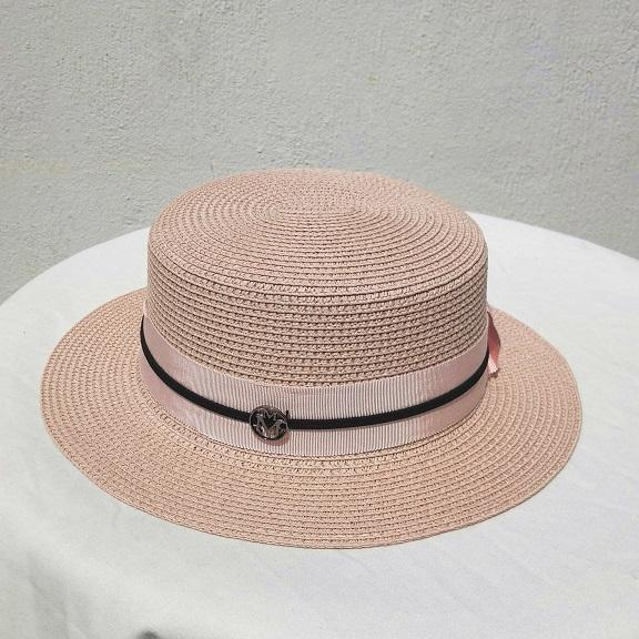 woven 2018 summer beach hat straw hat pink lady bowknot flower decoration M label top stingy brim free shipping