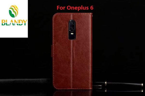 phone leather case For Oneplus 6T 6 Crazy Horse Leather PU TPU Wallet Case cover For Oneplus 5T X
