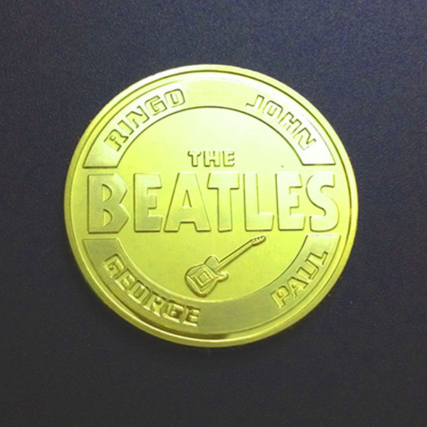Star Beatles Gold Plated Commemorative Coin Coin Coin Customized Foreign Trade Metal Badge...