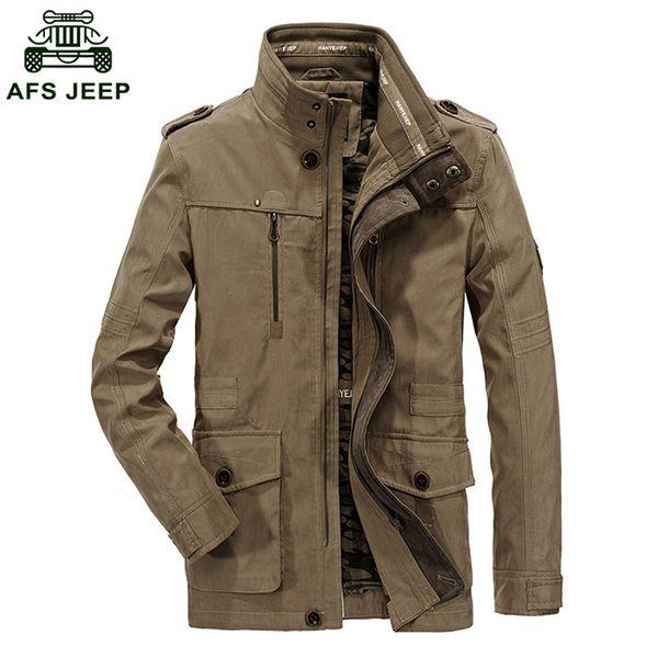 2018 zhan di ji pu brand men outwear jacket male casual cotton coats men autumn and winter overcoats d130