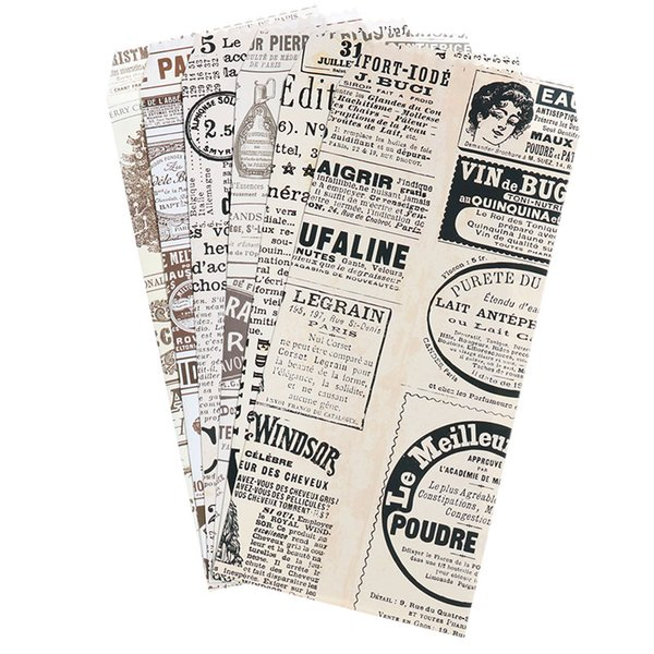 6pcs/Pack Cute Cartoon Chinese Envelope Retro Newspaper Envelope Child Student Craft Gift Stationery School Office Supplies