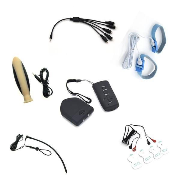 I kit medici dell'elettroshock di telecomando senza fili per l'uomo il catetere dell'anello del suono suonano i cuscinetti di massaggio i giocattoli anali della spina anale del sesso