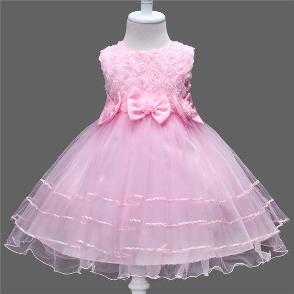Summer Lace Flower Girls Dress Princess Wedding Children Clothing Girl Kids Clothes Baby Girl Birthday Dress Frocks Ceremonies
