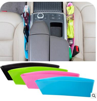 Auto Car Seat Gap Storage Box Plastic Sundries Garbage Box Compressible Leakproof Catcher Candy Snack Pocket Bag