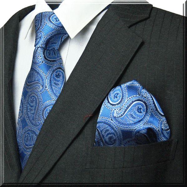 PaisleyTie Polka Microfiber Necktie Wedding tie Special Heavy Cotton Wrapped interlining Mens Necktie+Hanky+Cufflink Sets in Matching Colors