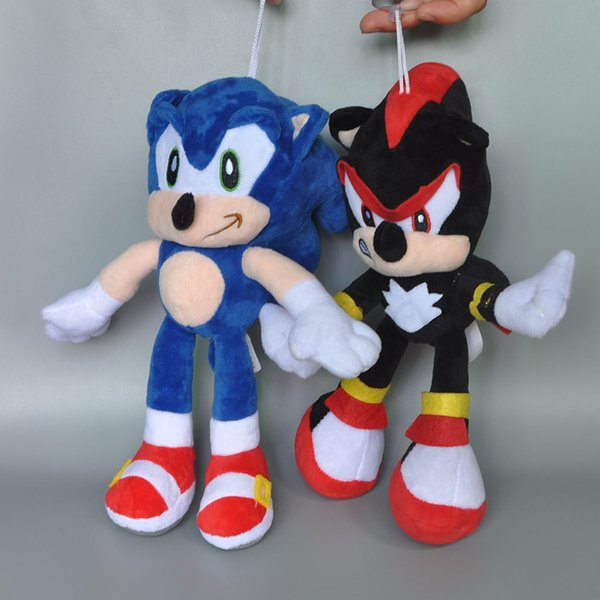 "Hot New 2 Styles 10"" 25CM The Hedgehog Shadow Plush Doll Kid's Soft Dolls Anime Collectible Stuffed Pendants Best Gifts Toys"