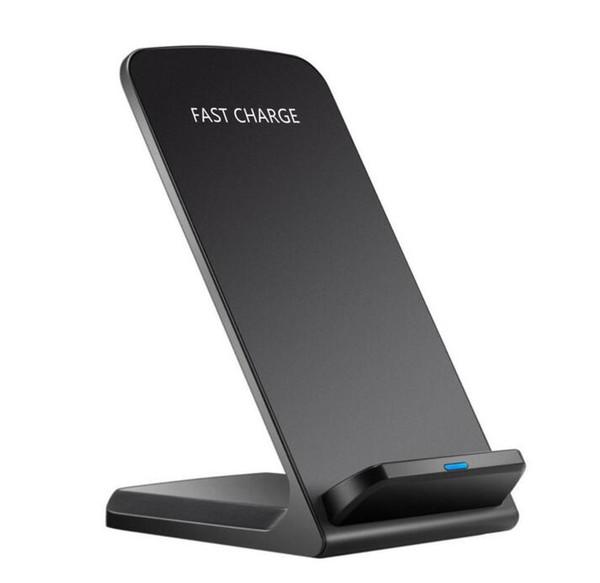 Dual-Spulen 10W Wireless Charger Schnelle Qi Wireless Charging Stand Pad für iPhone X 8 plus Samsung Hinweis 8 S8 S7 alle Qi-fähigen Smartphones