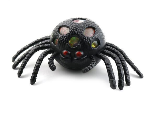 Hot Sell Ghost Festival Halloween Spider Squeeze Spider Vent TPR Soft Gum Animal Squeeze Terror Decompression toys Gifts