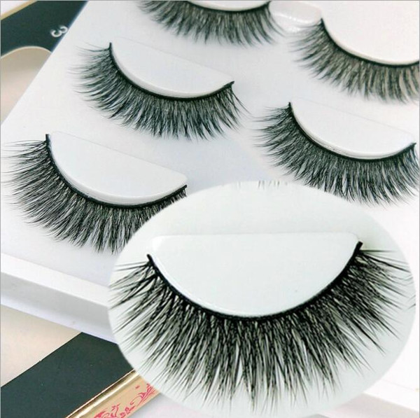 stock MINK Hair Eyelashes Hot Selling 3pairs/lot 100% Real Siberian 3D Full Strip False Eyelashes Long Individual Eyelash Lashes Extension