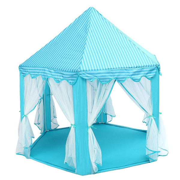 Portable Lightweight Outdoor tent 140x135cm Large Princess Castle Tulle Children House Game Selling Play Tent Yurt Creative