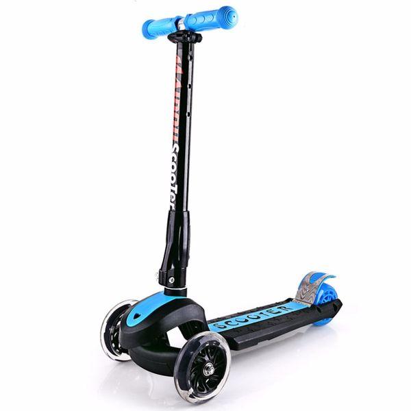 Tres ruedas intermitentes para niños Scooter Gravity Steering Foldable Free Installation For Toddler Kids Baby Walker 3 neumáticos para exteriores