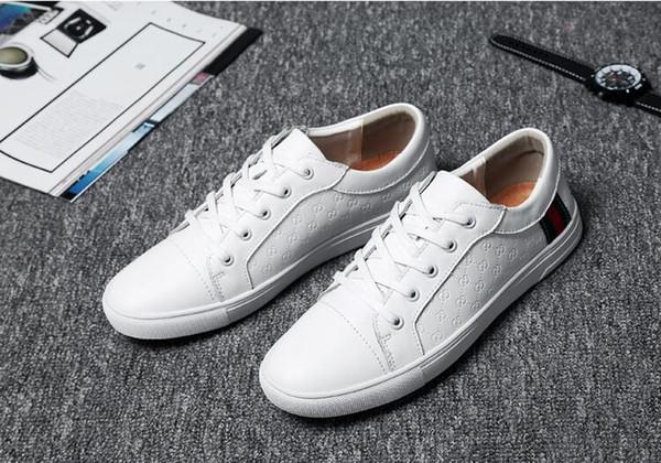 2018 Nouveau style de mode Hommes baskets pointe spike chaussures de tennis chaussures de soirée Italien Style hommes lacent casual chaussure goujon chaussures de léopard J36