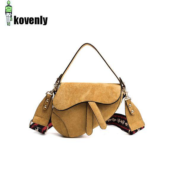 Women's Saddle Bag Fashion Handbags Luxury Waist Bag Mini Retro Messenger Nubuck Travel Shoulder Pack A283
