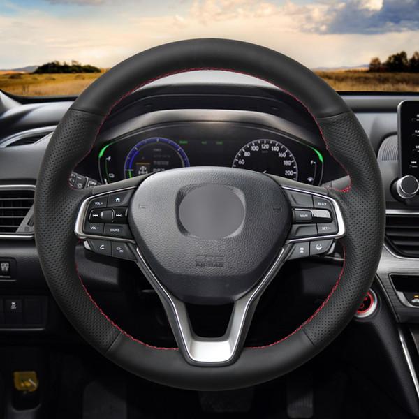 Mewant черный искусственная кожа руль обложка Wrap для Honda Accord 10 2018 2019 Insight 2019