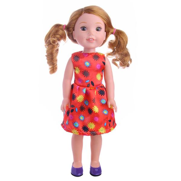 Fleta Yeni Dairesel dişli desen elbise bebek Giysileri Için 14.5