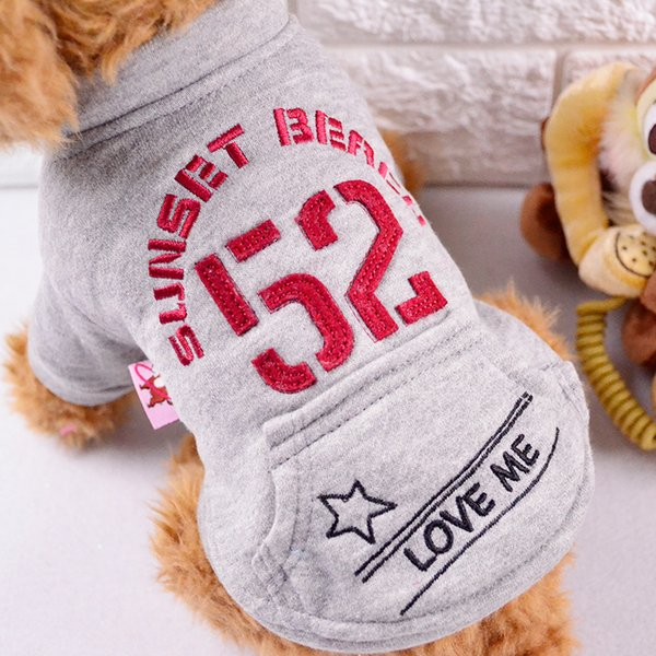 Small Dog Pets Sweaters Cotton Dog Supplies Pockets Dogs Apparel Cheap Little Pets Soft Breathable Pet Sweatshirts Wholesale