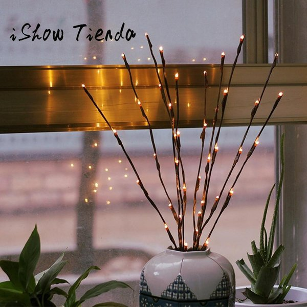 2017 Warm LED Willow Branch Lamp Floral Lights 20 Bulbs 30 Inches Home  Christmas Party Garden Decor For New Year Gift#35 Y18102909 Decorating